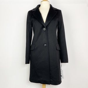 NWT Fleurette black 100% wool coat 4